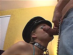 Chained up blonde liv wylder gets rou...