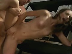 Hot brunette nurse gets ass-fucked by doctor's big-dick in office