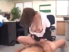 threesome, office, asian, milf