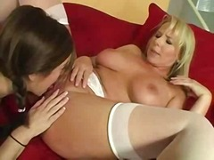 Beautiful Mature Lesbian Seduces Youn...