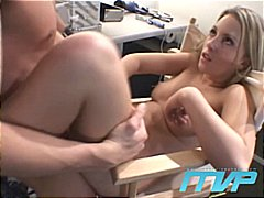 Hot blonde fucked backstage