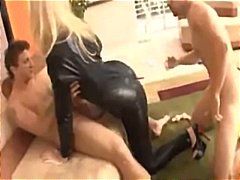 Babe in a black leathe... video