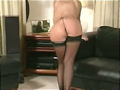 Hot milf fucking her self with big di...