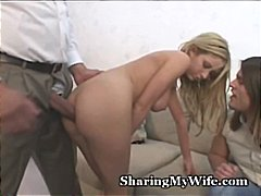 interracial, titty-fucking, blonde, milf