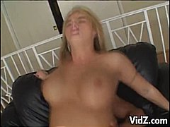 deepthroat, platinum blonde, busty,