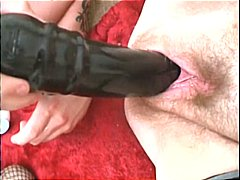 Large pussy is fucked by bizarre toys