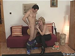 Mature lady gets banne...