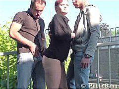 Thumb: Risky threesome by a b...