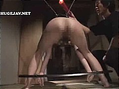 Asian BDSM compilation with gals bound, ga...