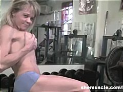 gym, big tits, blonde, milf, fetish
