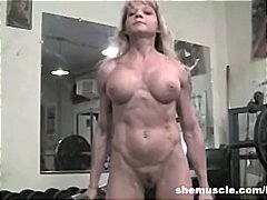fetish, mature, muscled, ass, milf, fitness, big tits, gym, older, blonde