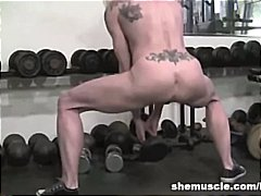 gym, muscled, blonde, milf, fetish