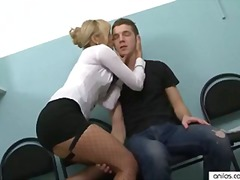 Sexy office milf wears... video
