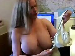 Busty cougar in fishne... - PornHub