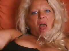 Hot Blonde Granny Ass Finger N Fuck