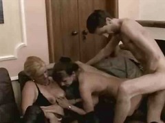 cumshot, mom, 3some, homemade, wife