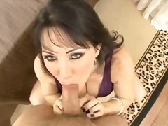 pov, blowjob, dress, brunette