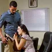 Sexy office footjob an... video