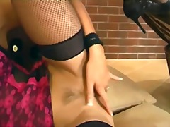 lingerie, stockings, masturbation,