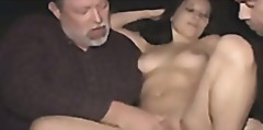 Brunette slut sells her holes in a dirty porn theater