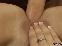cowgirl, shaved pussy, anal sex,