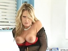 solo, masterbation, sex-toy, vibrator, masturbate, mature, anilos, stockings, masturbating, adult-toys, lingerie, cougar