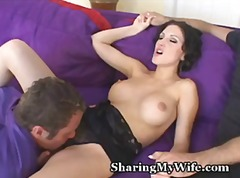 voyeur, milf, blowjob, foreplay, brunette