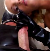 angel long,  latex, blowjob, blonde,