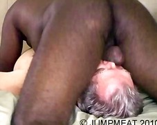 Ebony gay gives mature stud to suck h...