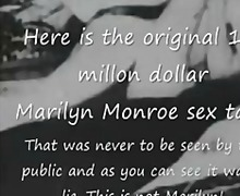 Marilyn Monroe Original $1.5 million sex tape lie!
