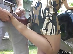 foot fetish, fetish, outdoor, stockings