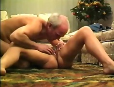 Mature couple get their action going ...