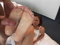 Denny Footjob Brunette... preview