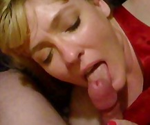 LICK JOB SHE LICKS THE CUM OUT OF HIS...
