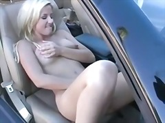 Blonde Masterbates in the Car by snah...