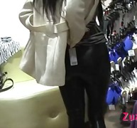 Hot leather pants video