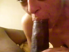 White girl blows and swallows for bbc...