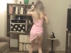 Thumb: Teen blond stripping