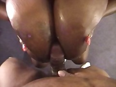 Ebony Titty Fuck.