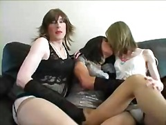 Amateur Sissy TS group... video