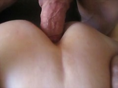 Deep anal with cumshot  - home