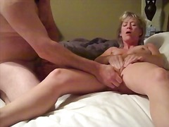 Wanking together with nice cum
