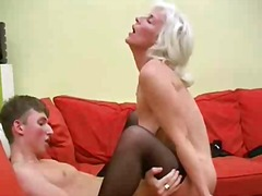 Blonde Rus Mature fuck video