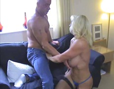 Xhamster Movie:Hot Busty Blonde Cougar Pleasi...