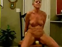Thumb: Horny granny riding a ...