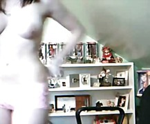 teen strips on webcam....