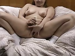 Housewife doing a vide...