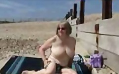 See: Older lady rubbing her...