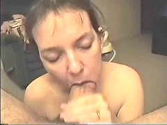 Blow job cum swallow
