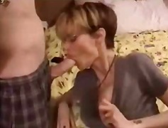 Short Hair Milf With Glass... - 03:50
